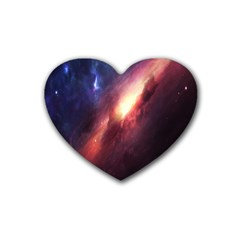 Digital Space Universe Heart Coaster (4 Pack)  by BangZart