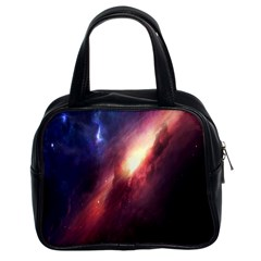 Digital Space Universe Classic Handbags (2 Sides) by BangZart