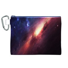 Digital Space Universe Canvas Cosmetic Bag (xl) by BangZart