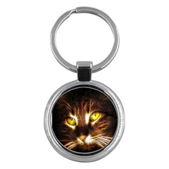 Cat Face Key Chains (round)