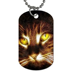 Cat Face Dog Tag (two Sides)