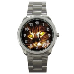 Cat Face Sport Metal Watch