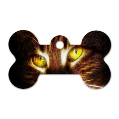 Cat Face Dog Tag Bone (one Side)