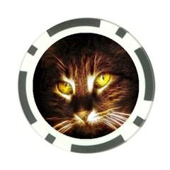 Cat Face Poker Chip Card Guard