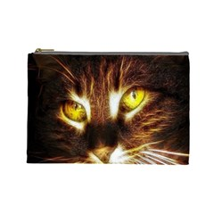 Cat Face Cosmetic Bag (large)