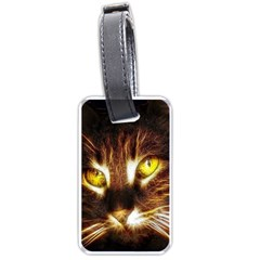Cat Face Luggage Tags (one Side)