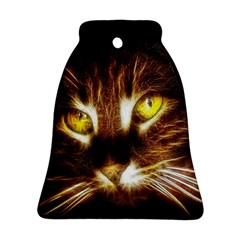 Cat Face Bell Ornament (two Sides)