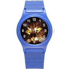 Cat Face Round Plastic Sport Watch (s)