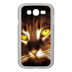 Cat Face Samsung Galaxy Grand Duos I9082 Case (white) by BangZart