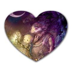 Cartoons Video Games Multicolor Heart Mousepads