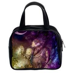 Cartoons Video Games Multicolor Classic Handbags (2 Sides) by BangZart