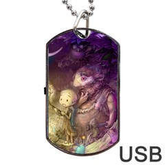 Cartoons Video Games Multicolor Dog Tag Usb Flash (one Side)