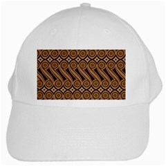Batik The Traditional Fabric White Cap