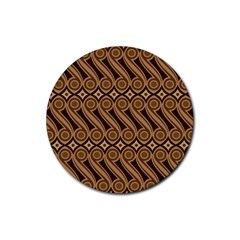 Batik The Traditional Fabric Rubber Coaster (round)