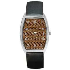 Batik The Traditional Fabric Barrel Style Metal Watch