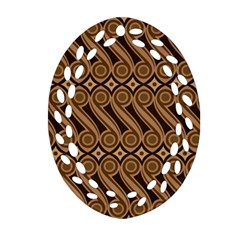 Batik The Traditional Fabric Ornament (oval Filigree)