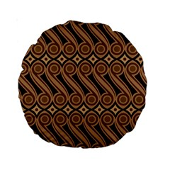 Batik The Traditional Fabric Standard 15  Premium Round Cushions