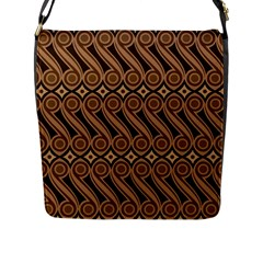 Batik The Traditional Fabric Flap Messenger Bag (l)