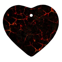 Volcanic Textures Ornament (heart)