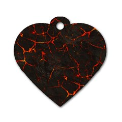Volcanic Textures Dog Tag Heart (one Side) by BangZart