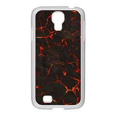 Volcanic Textures Samsung Galaxy S4 I9500/ I9505 Case (white) by BangZart
