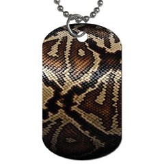 Snake Skin Olay Dog Tag (two Sides)