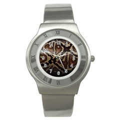 Snake Skin Olay Stainless Steel Watch