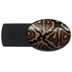 Snake Skin Olay Usb Flash Drive Oval (4 Gb) by BangZart