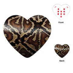 Snake Skin Olay Playing Cards (heart)