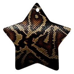 Snake Skin Olay Star Ornament (two Sides)