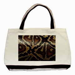 Snake Skin Olay Basic Tote Bag (two Sides)
