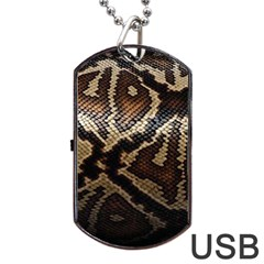 Snake Skin Olay Dog Tag Usb Flash (one Side)