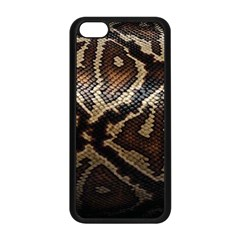 Snake Skin Olay Apple Iphone 5c Seamless Case (black) by BangZart