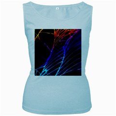 Cracked Out Broken Glass Women s Baby Blue Tank Top
