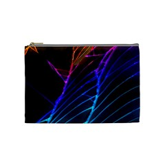 Cracked Out Broken Glass Cosmetic Bag (medium)