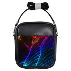 Cracked Out Broken Glass Girls Sling Bags