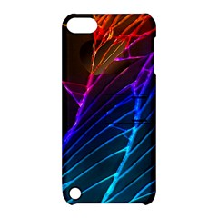 Cracked Out Broken Glass Apple Ipod Touch 5 Hardshell Case With Stand