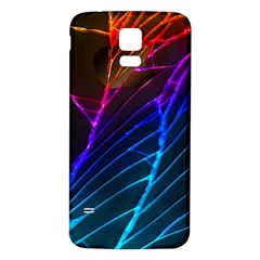 Cracked Out Broken Glass Samsung Galaxy S5 Back Case (white)