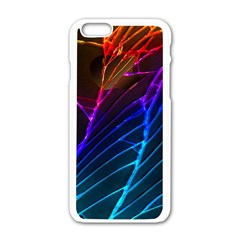 Cracked Out Broken Glass Apple Iphone 6/6s White Enamel Case