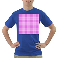 Seamless Tartan Pattern Dark T Shirt