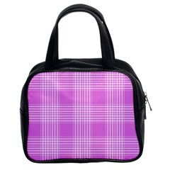 Seamless Tartan Pattern Classic Handbags (2 Sides)