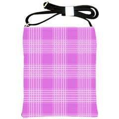 Seamless Tartan Pattern Shoulder Sling Bags