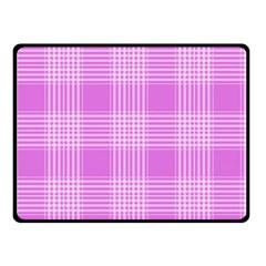 Seamless Tartan Pattern Double Sided Fleece Blanket (small)