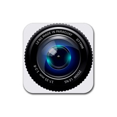 Camera Lens Prime Photography Rubber Square Coaster (4 Pack)