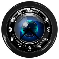 Camera Lens Prime Photography Wall Clocks (black)