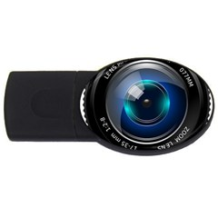 Camera Lens Prime Photography Usb Flash Drive Oval (2 Gb)