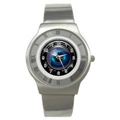 Camera Lens Prime Photography Stainless Steel Watch