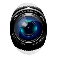 Camera Lens Prime Photography Oval Ornament (two Sides) by BangZart