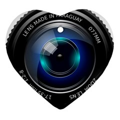 Camera Lens Prime Photography Heart Ornament (two Sides)