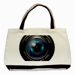 Camera Lens Prime Photography Basic Tote Bag (two Sides) by BangZart